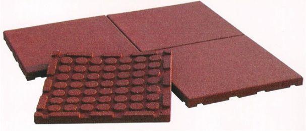 Pavimentazione antitrauma in gomma riciclata eurocom - Piastrelle gomma antitrauma ...