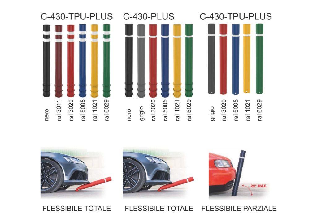 dissuasore in plastica flessibile vari colori con rifrangente